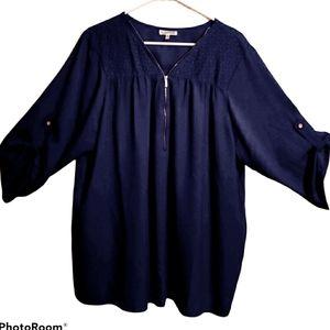 Shoulder laced women's blouse plus size 2x